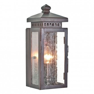 ELSTEAD MATLOCK | Matlock Elstead zidna svjetiljka 1x E14 IP43 antik brončano, efekt mjehura