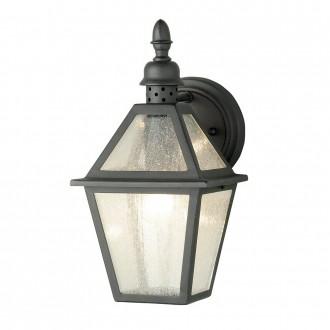 ELSTEAD POLRUAN | Polruan Elstead zidna svjetiljka 1x E27 IP44 crno, efekt mjehura