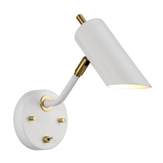 ELSTEAD QUINTO1 WAB | Quinto-EL Elstead zidna svjetiljka s prekidačem elementi koji se mogu okretati 1x E14 bijelo, antik bakar