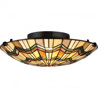 ELSTEAD QZ/ALCOTT/F | Alcott Elstead stropne svjetiljke svjetiljka 2x E27 brončano smeđe, višebojno
