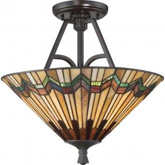 ELSTEAD QZ/ALCOTT/SF | Alcott Elstead stropne svjetiljke svjetiljka 2x E27 brončano smeđe, višebojno