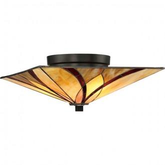 ELSTEAD QZ/ASHEVILLE/F | Asheville Elstead stropne svjetiljke svjetiljka 2x E27 brončano smeđe, višebojno