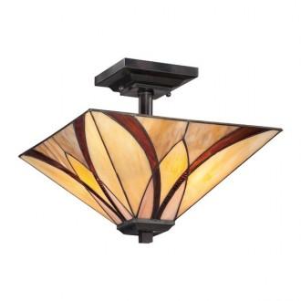 ELSTEAD QZ/ASHEVILLE/SF | Asheville Elstead stropne svjetiljke svjetiljka 2x E27 brončano smeđe, višebojno