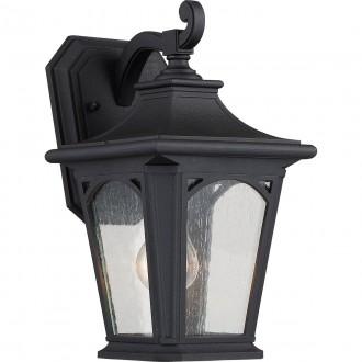 ELSTEAD QZ/BEDFORD2/S | Bedford-EL Elstead zidna svjetiljka namjenjeno za primorje 1x E27 IP44 UV crno, efekt mjehura