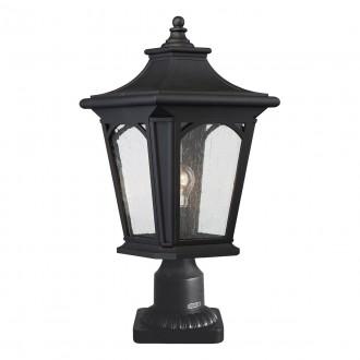 ELSTEAD QZ/BEDFORD3/M | Bedford-EL Elstead stolna svjetiljka 47cm s prekidačem namjenjeno za primorje 1x E27 IP44 UV crno, efekt mjehura