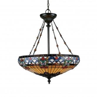 ELSTEAD QZ-BELLE-FLEUR-P | Belle-Fleur Elstead visilice svjetiljka ručna izrada 4x E27 brončano smeđe, višebojno