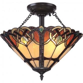 ELSTEAD QZ/CAMBRIDGE/SF | Cambridge-EL Elstead stropne svjetiljke svjetiljka 2x E27 brončano smeđe, višebojno