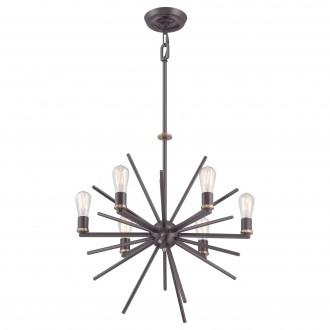 ELSTEAD QZ/CARNEGIE6 | Carnegie Elstead visilice svjetiljka s podešavanjem visine 6x E27 bronca