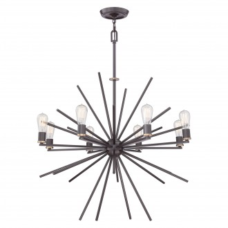 ELSTEAD QZ/CARNEGIE8 | Carnegie Elstead visilice svjetiljka s podešavanjem visine 8x E27 bronca