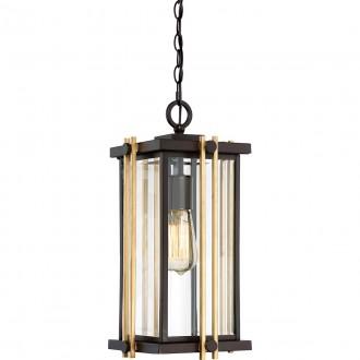 ELSTEAD QZ-GOLDENROD8-M | Goldenrod Elstead visilice svjetiljka 1x E27 Ip23 bronca, zlatno, prozirno