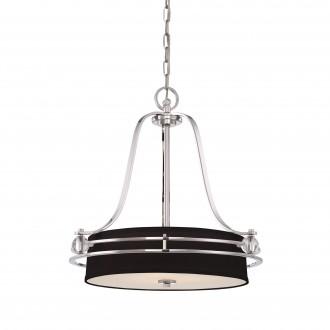 ELSTEAD QZ/GOTHAM/P | Gotham Elstead visilice svjetiljka 4x E27 srebrno, crno, prozirno