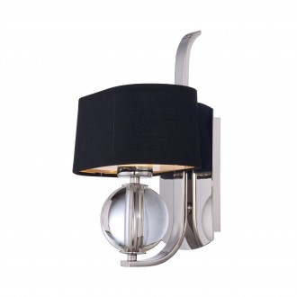 ELSTEAD QZ/GOTHAM1 | Gotham Elstead zidna svjetiljka 1x G9 320lm 3000K srebrno, crno, prozirno