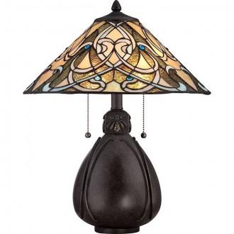 ELSTEAD QZ-INDIA-TL | India-EL Elstead stolna svjetiljka 49,5cm s prekidačem 2x E27 brončano smeđe, višebojno