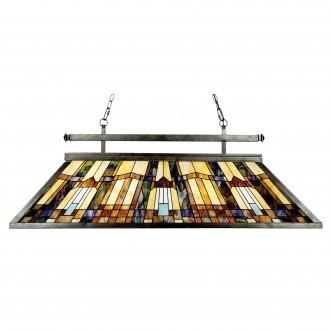 ELSTEAD QZ-INGLENOOK-ISLE | Inglenook Elstead visilice svjetiljka 3x E27 brončano smeđe, višebojno