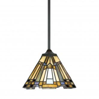 ELSTEAD QZ/INGLENOOK/MP | Inglenook Elstead visilice svjetiljka 1x E27 brončano smeđe, višebojno
