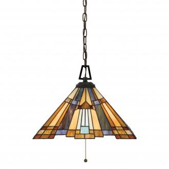 ELSTEAD QZ/INGLENOOK/P/A | Inglenook Elstead visilice svjetiljka 3x E27 brončano smeđe, višebojno