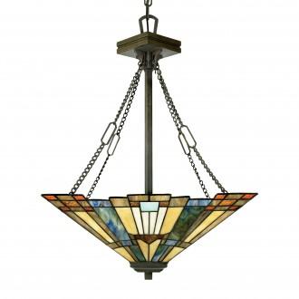 ELSTEAD QZ/INGLENOOK/P/B | Inglenook Elstead visilice svjetiljka 3x E27 brončano smeđe, višebojno
