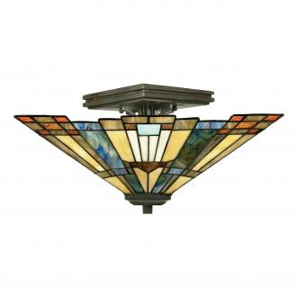 ELSTEAD QZ/INGLENOOK/SF | Inglenook Elstead stropne svjetiljke svjetiljka 2x E27 brončano smeđe, višebojno