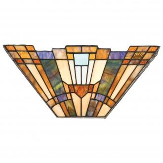 ELSTEAD QZ/INGLENOOK/WU | Inglenook Elstead zidna svjetiljka 2x E14 brončano smeđe, višebojno
