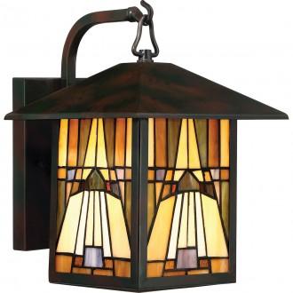 ELSTEAD QZ-INGLENOOK2-M   Inglenook Elstead zidna svjetiljka ručna izrada 1x E27 IP44 brončano smeđe, višebojno