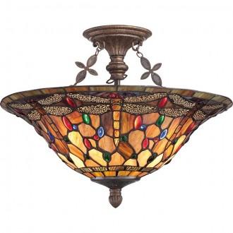 ELSTEAD QZ/JDRAGONFLY/SF | Jewelled-Dragonfly Elstead stropne svjetiljke svjetiljka 3x E27 antik brončano, višebojno