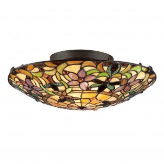 ELSTEAD QZ/KAMI/F | Kami-EL Elstead stropne svjetiljke svjetiljka ručna izrada 2x E27 brončano smeđe, višebojno