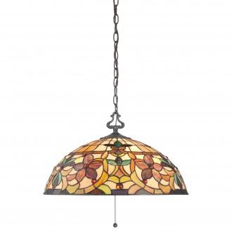 ELSTEAD QZ-KAMI-P | Kami-EL Elstead visilice svjetiljka ručna izrada 3x E27 brončano smeđe, višebojno