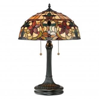 ELSTEAD QZ-KAMI-TL | Kami-EL Elstead stolna svjetiljka 58,4cm s prekidačem ručna izrada 2x E27 brončano smeđe, višebojno