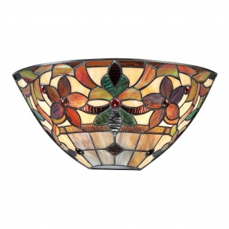 ELSTEAD QZ-KAMI-WU | Kami-EL Elstead zidna svjetiljka ručna izrada 2x E14 brončano smeđe, višebojno