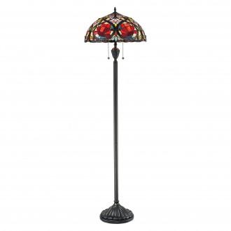 ELSTEAD QZ/LARISSA/FL   Larissa-EL Elstead podna svjetiljka 157,5cm 2x s poteznim prekidačem ručna izrada 2x E27 brončano smeđe, višebojno