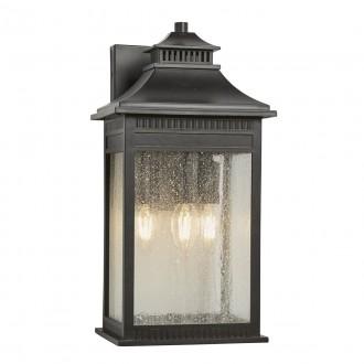 ELSTEAD QZ/LIVINGSTON2/L | Livingston Elstead zidna svjetiljka namjenjeno za primorje 3x E14 IP44 UV brončano smeđe, efekt mjehura