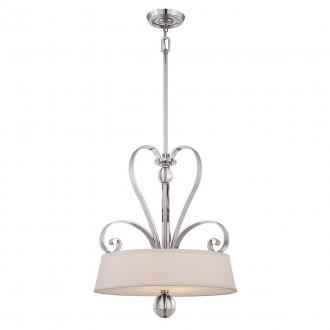 ELSTEAD QZ-MADISON-MANOR-P-IS | Madison-Manor Elstead visilice svjetiljka s podešavanjem visine 4x E27 srebrno, bijelo, prozirno