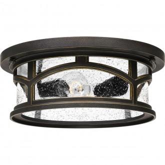 ELSTEAD QZ/MARBLEHEAD/F | Marblehead Elstead stropne svjetiljke svjetiljka namjenjeno za primorje 2x E27 IP44 UV antik brončano, efekt mjehura