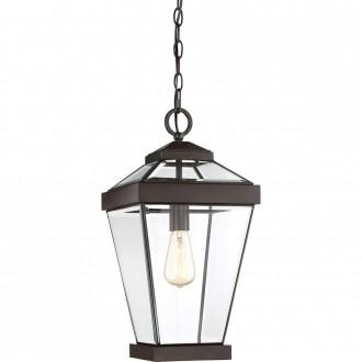 ELSTEAD QZ-RAVINE8-L | Ravine Elstead visilice svjetiljka 1x E27 IP23 bronca, prozirno