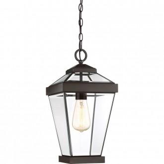 ELSTEAD QZ-RAVINE8-M | Ravine Elstead visilice svjetiljka 1x E27 IP23 bronca, prozirno