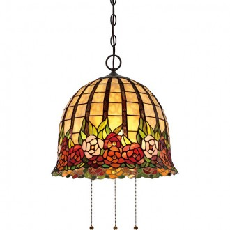ELSTEAD QZ/ROSECLIFFE/P | Rosecliffe Elstead visilice svjetiljka 3x E27 brončano smeđe, višebojno