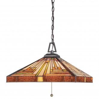 ELSTEAD QZ/STEPHEN/3P | Stephen Elstead visilice svjetiljka ručna izrada 3x E27 brončano smeđe, višebojno