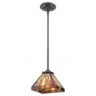 ELSTEAD QZ/STEPHEN/MP | Stephen Elstead visilice svjetiljka ručna izrada 1x E27 brončano smeđe, višebojno