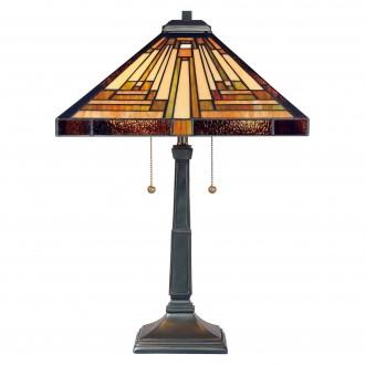 ELSTEAD QZ/STEPHEN/TL | Stephen Elstead stolna svjetiljka 58,4cm sa prekidačem na kablu ručna izrada 2x E27 brončano smeđe, višebojno