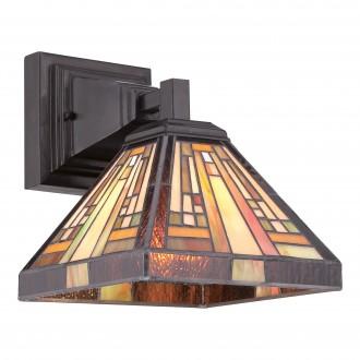 ELSTEAD QZ/STEPHEN1 | Stephen Elstead zidna svjetiljka ručna izrada 1x E27 brončano smeđe, višebojno