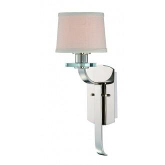 ELSTEAD QZ-SUTTON-PLACE1 | Sutton-Place Elstead zidna svjetiljka 1x E27 srebrno, bijelo, prozirno