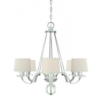 ELSTEAD QZ-SUTTON-PLACE6 | Sutton-Place Elstead luster svjetiljka 6x E27 srebrno, bijelo, prozirno