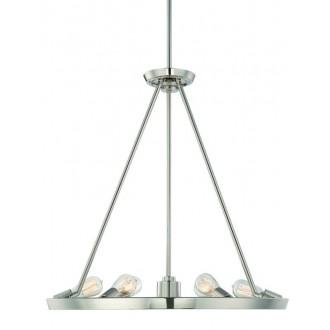 ELSTEAD QZ-THEATER-ROW6IS | Theater-Row Elstead luster svjetiljka s podešavanjem visine 6x E27 + 1x GU10 srebrno