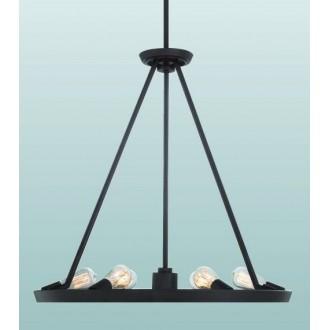 ELSTEAD QZ-THEATER-ROW6WT | Theater-Row Elstead luster svjetiljka s podešavanjem visine 6x E27 + 1x GU10 bronca