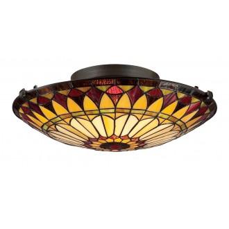 ELSTEAD QZ/WEST END/F | West-End Elstead stropne svjetiljke svjetiljka 2x E27 brončano smeđe, višebojno