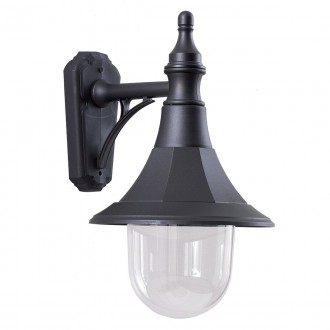 ELSTEAD SHANNON DOWN | Shannon-EL Elstead zidna svjetiljka namjenjeno za primorje 1x E27 IP44 UV crno, prozirno