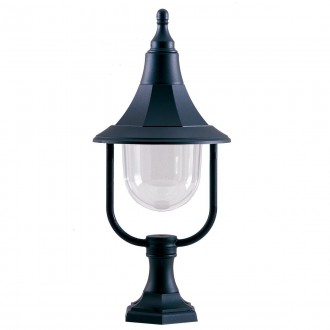 ELSTEAD SHANNON PED | Shannon-EL Elstead podna svjetiljka 50cm namjenjeno za primorje 1x E27 IP44 UV crno, prozirno