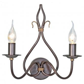 ELSTEAD WM2 | Windermere Elstead zidna svjetiljka ručno bojano 2x E14 antik crno