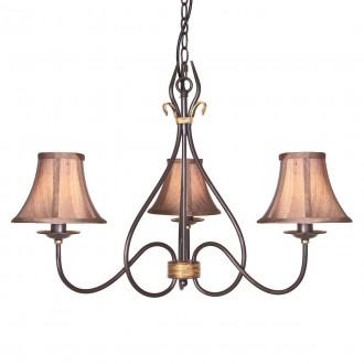 ELSTEAD WM3 | Windermere Elstead luster svjetiljka ručno bojano 3x E14 antik crno