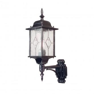 ELSTEAD WX1 | Wexford Elstead zidna svjetiljka 1x E27 IP43 antik crno, prozirno